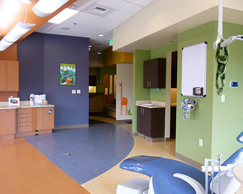 Open bay interior at Children's Dentistry of DuPont Office.